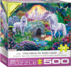 Unicorns in Fairy Land - 500pc Jigsaw Puzzle by Eurographics