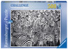 Zebra Challenge - 500pc Challenge Series Jigsaw Puzzle By Ravensburger