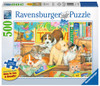 Pets on Tour - 500pc Large Format Jigsaw Puzzle By Ravensburger