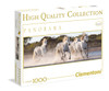 Running Horses - 1000pc Panoramic Jigsaw Puzzle by Clementoni