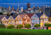 Painted Ladies, San Francisco - 1000pc Jigsaw Puzzle By Castorland