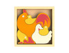Chicken Family - EcoFriendly Wooden Puzzle by BeginAgain