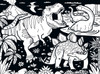 Dinosaurs - 60pc Coloring Jigsaw Puzzle by Masterpieces