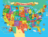 USA Map State - 60pc Educational Shaped Jigsaw Puzzle by Masterpieces