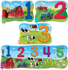 123 on the Farm 4-Pack - Educational Jigsaw Puzzle by Masterpieces