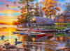 Darrell Bush: Canoe Camp - 1000pc Jigsaw Puzzle By Buffalo Games