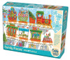 Christmas Train - 350pc Family Jigsaw Puzzle by Cobble Hill