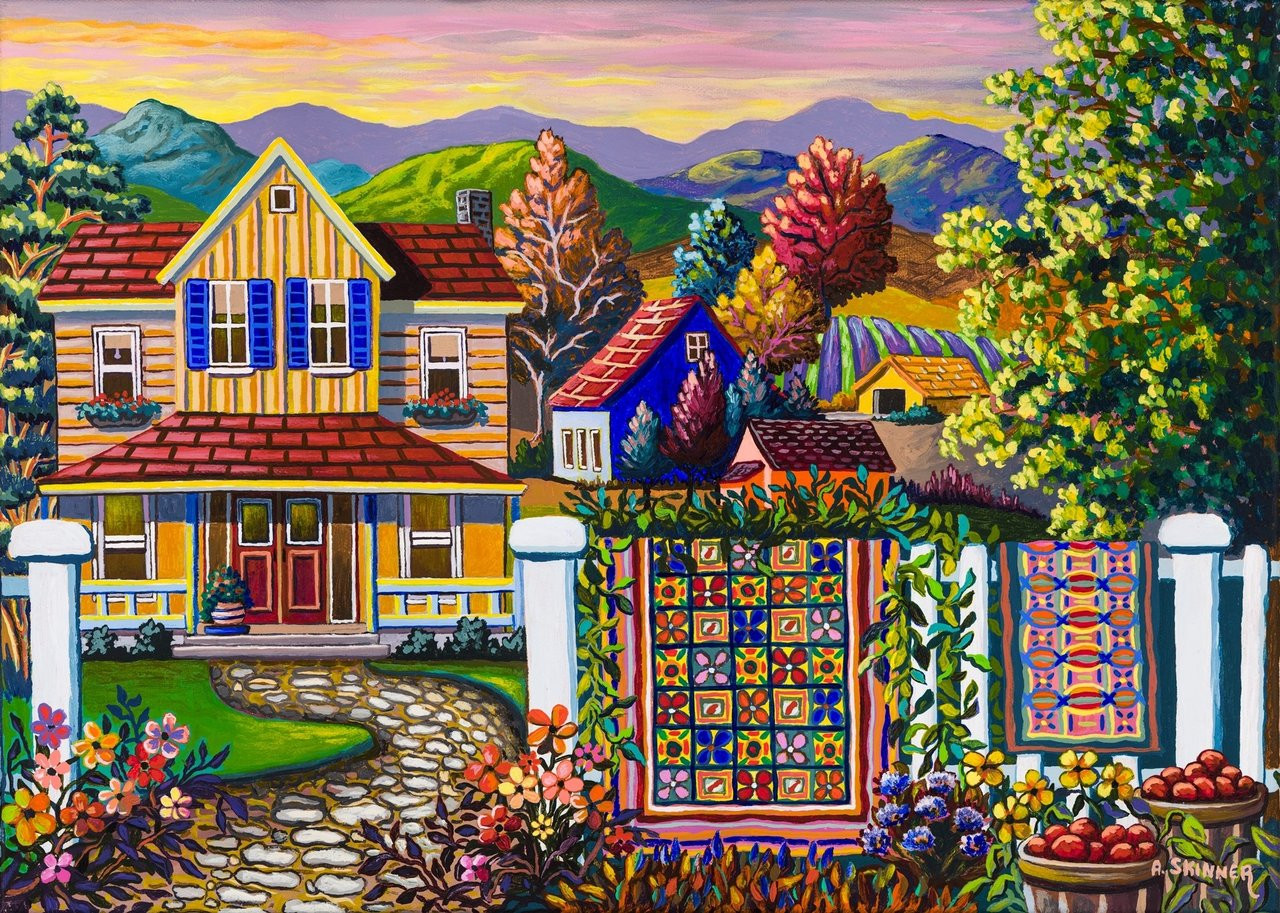 Skinner: Country Quilt Wash Day - 750pc Jigsaw Puzzle By Standout Puzzles