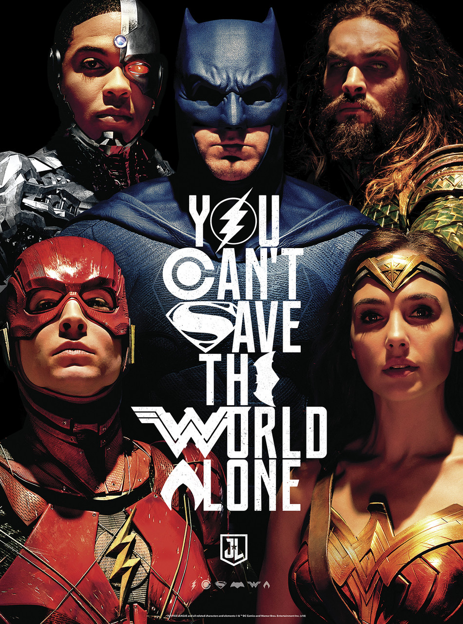 Justice League: You Can't Save the World Alone (Glow In The Dark) - 1000pc  Jigsaw Puzzle By Buffalo Games