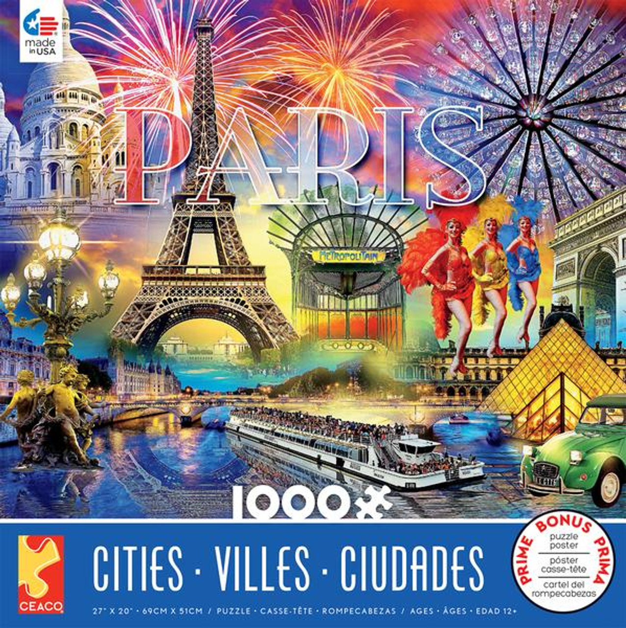 Cities: Paris - 1000pc Jigsaw Puzzle by Ceaco