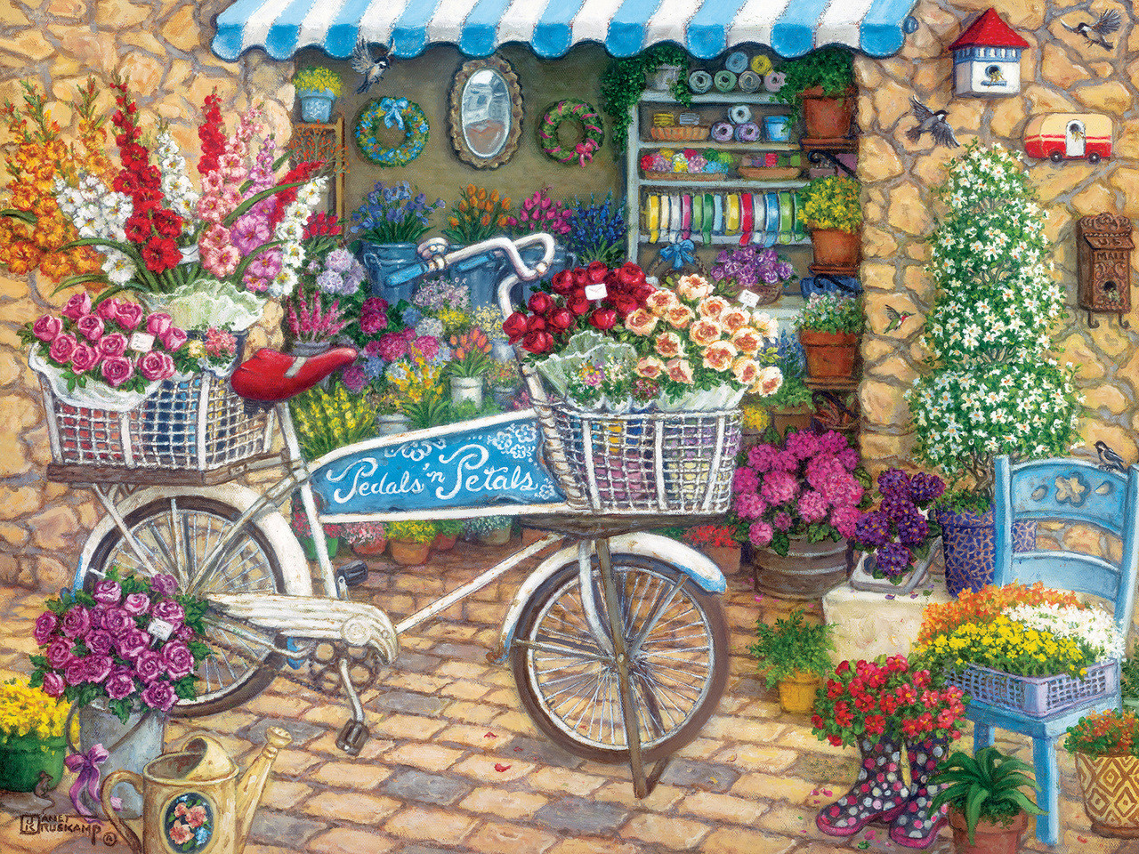 Pedals 'n' Petals - 275pc Easy Handling Puzzle by Cobble Hill