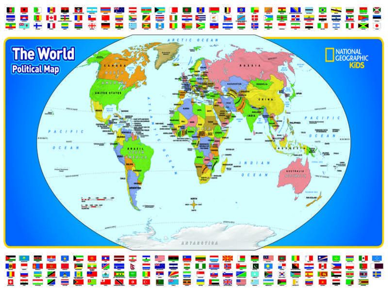 The World Kids Map - 300pc Jigsaw Puzzle by New York Puzzle Company