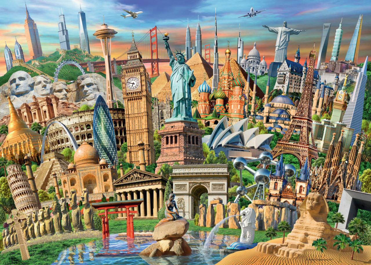 World Landmarks - 1000pc Jigsaw Puzzle By Ravensburger