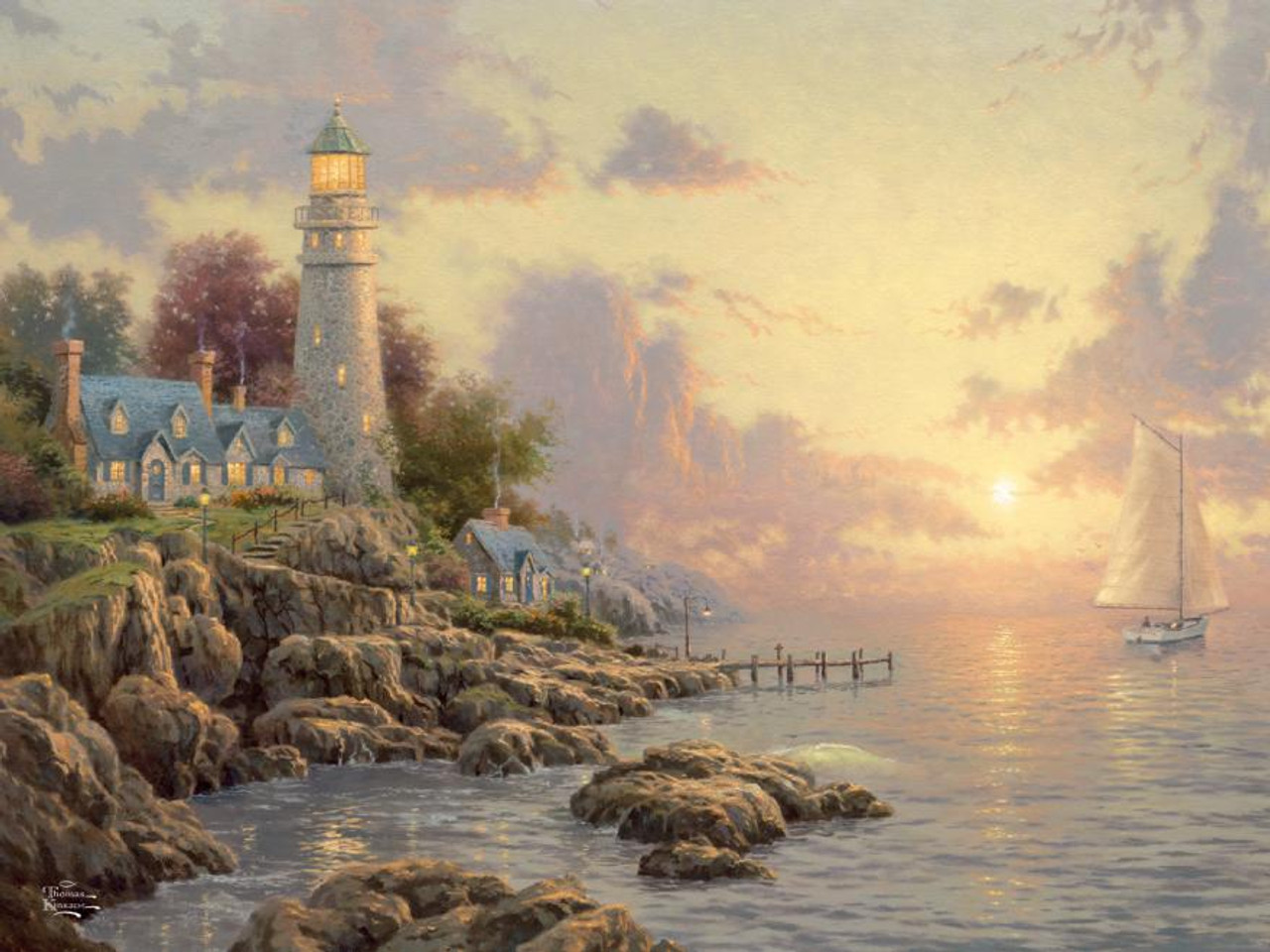 Ceaco Thomas Kinkade Special Edition The Sea of Tranquility Puzzle 1148-6