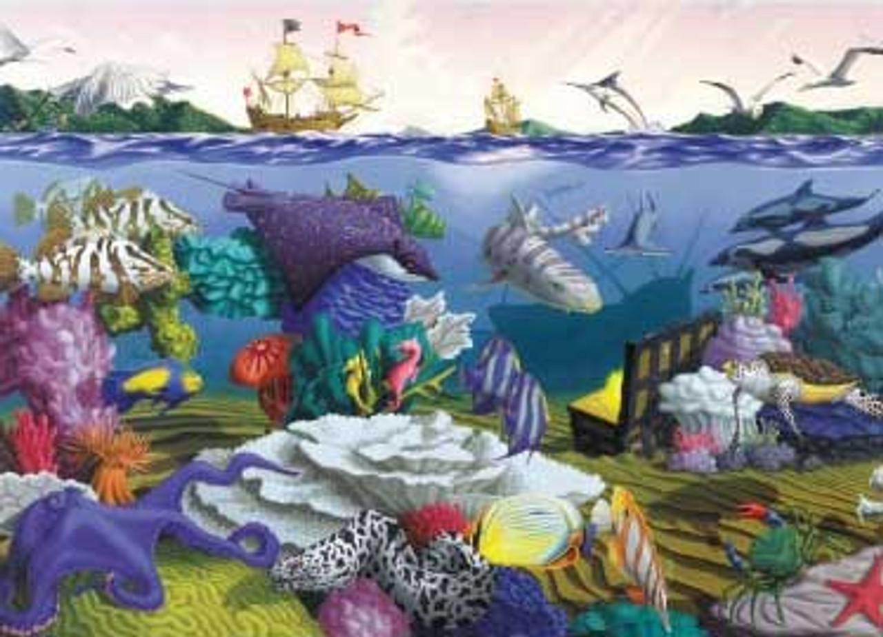 Underwater Ocean Treasures - 1000pc Jigsaw Puzzle by Great American Puzzle  Factory (discon)