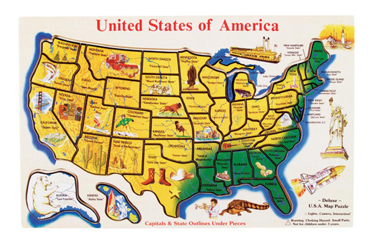 Large U S A Map Puzzle Melissa Doug L Serious Puzzles