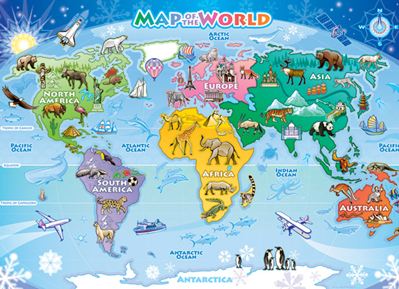 Map Of Australia Jigsaw Puzzle.Map Of The World 48pc Jigsaw Puzzle By Cobble Hill