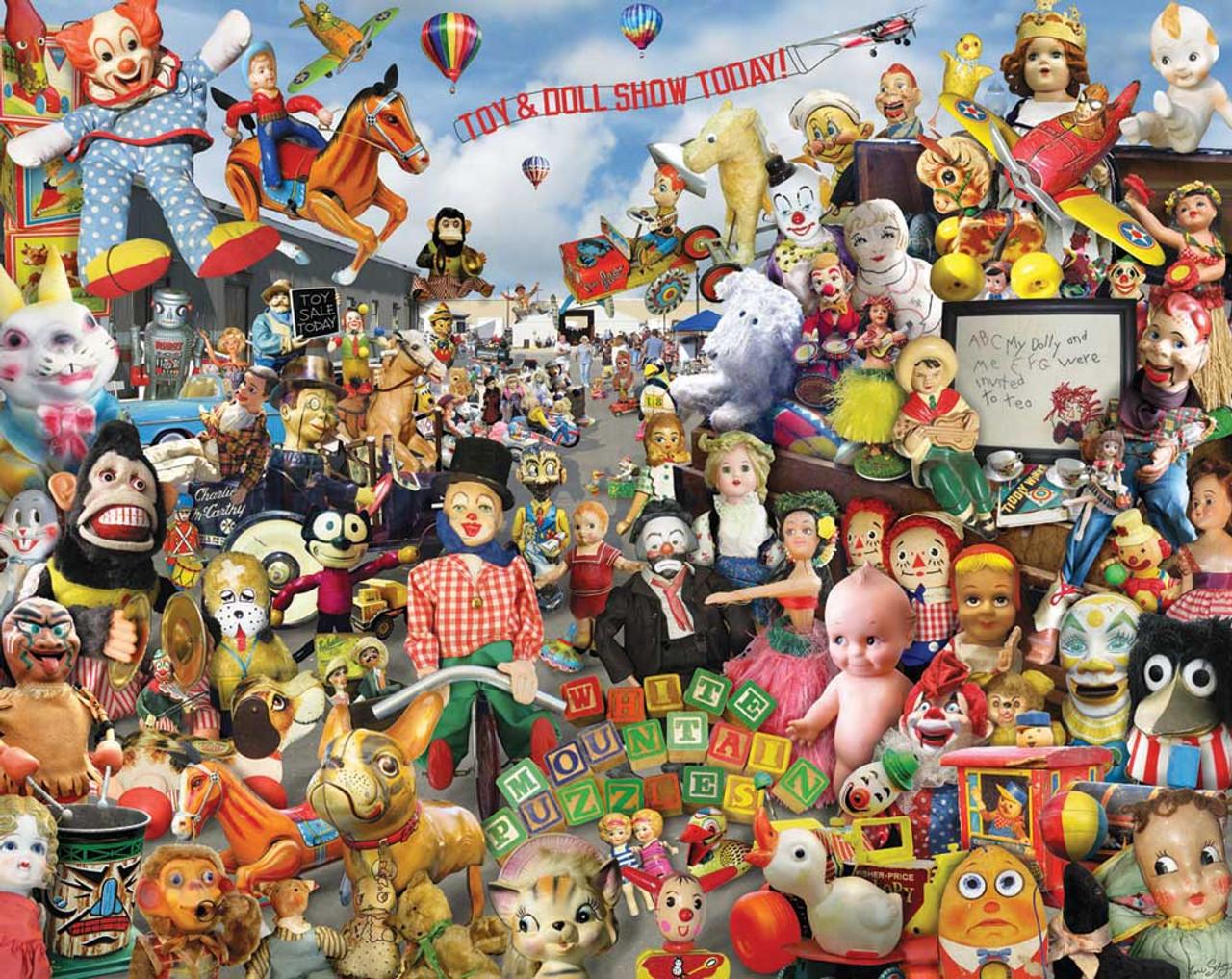 Crazy Toys - 1000pc Jigsaw Puzzle by White Mountain (discon)