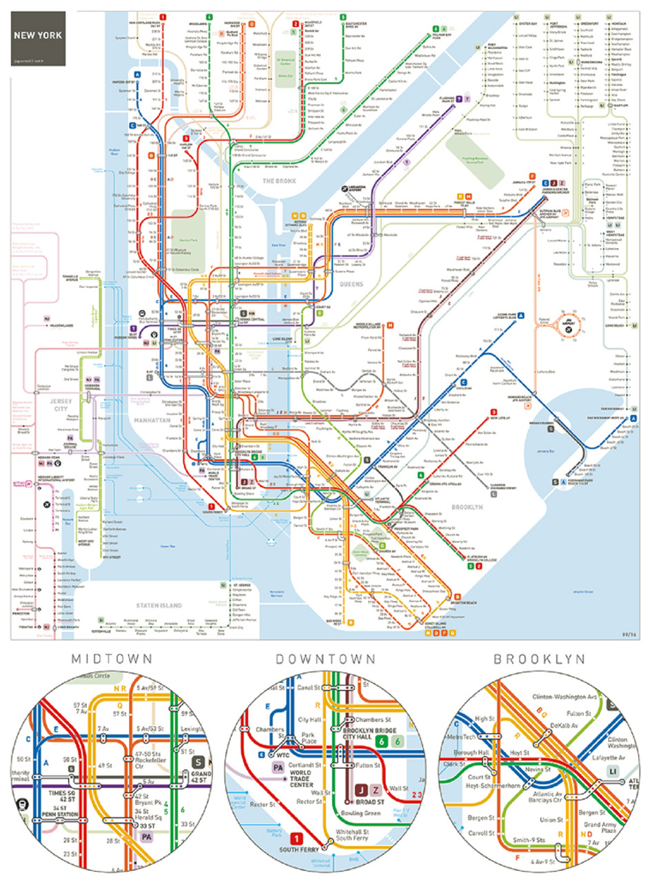 Subway Map To Coney Island.New York Subway 500pc Jigsaw Puzzle By Aquarius