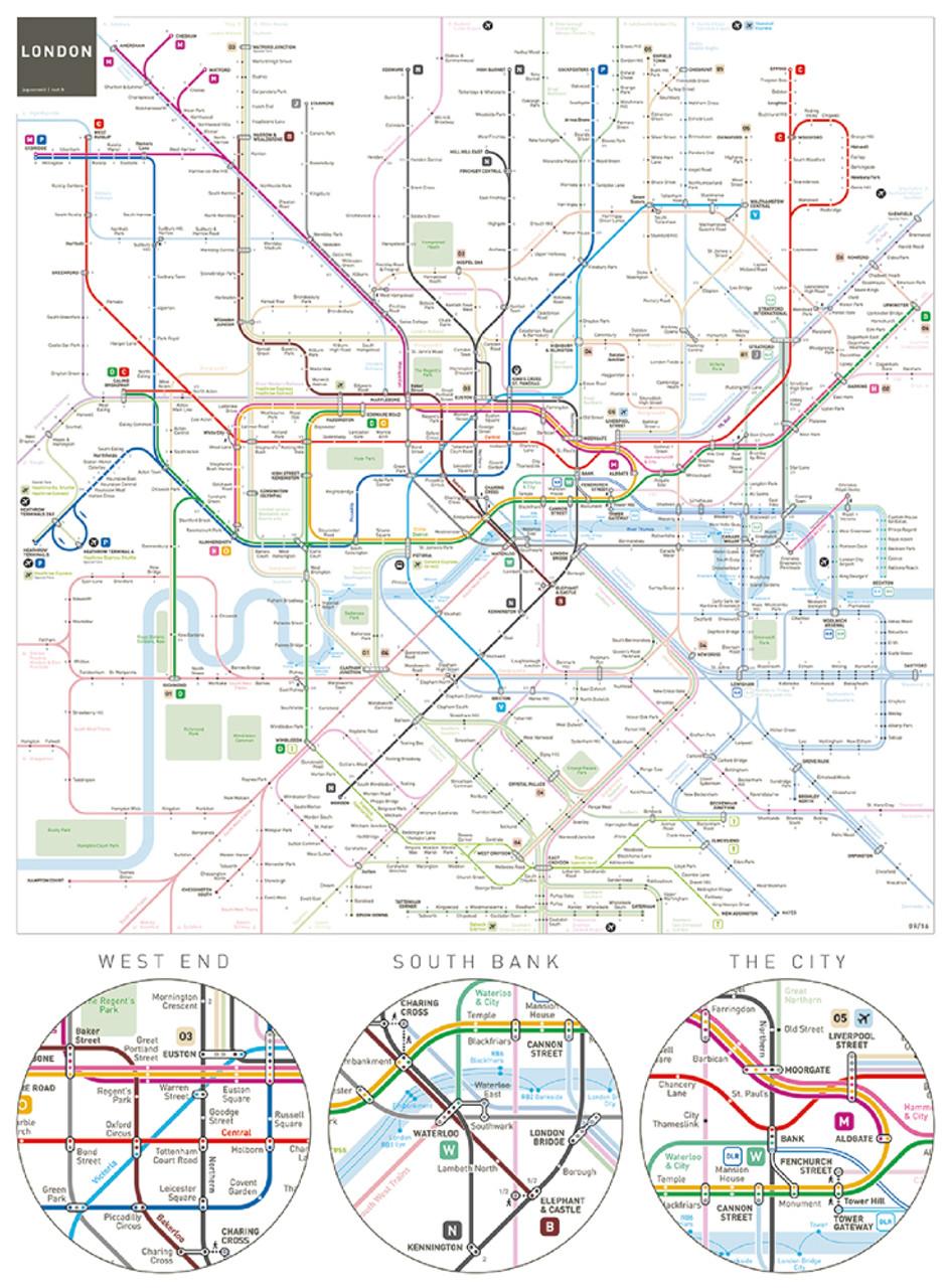 Aquarius Puzzles Subway Map.London Underground 500pc Jigsaw Puzzle By Aquarius