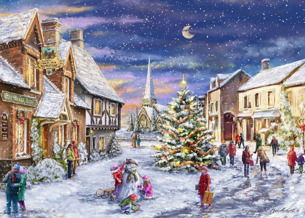 Christmas Village.Christmas Village 1000pc Jigsaw Puzzle By Ravensburger