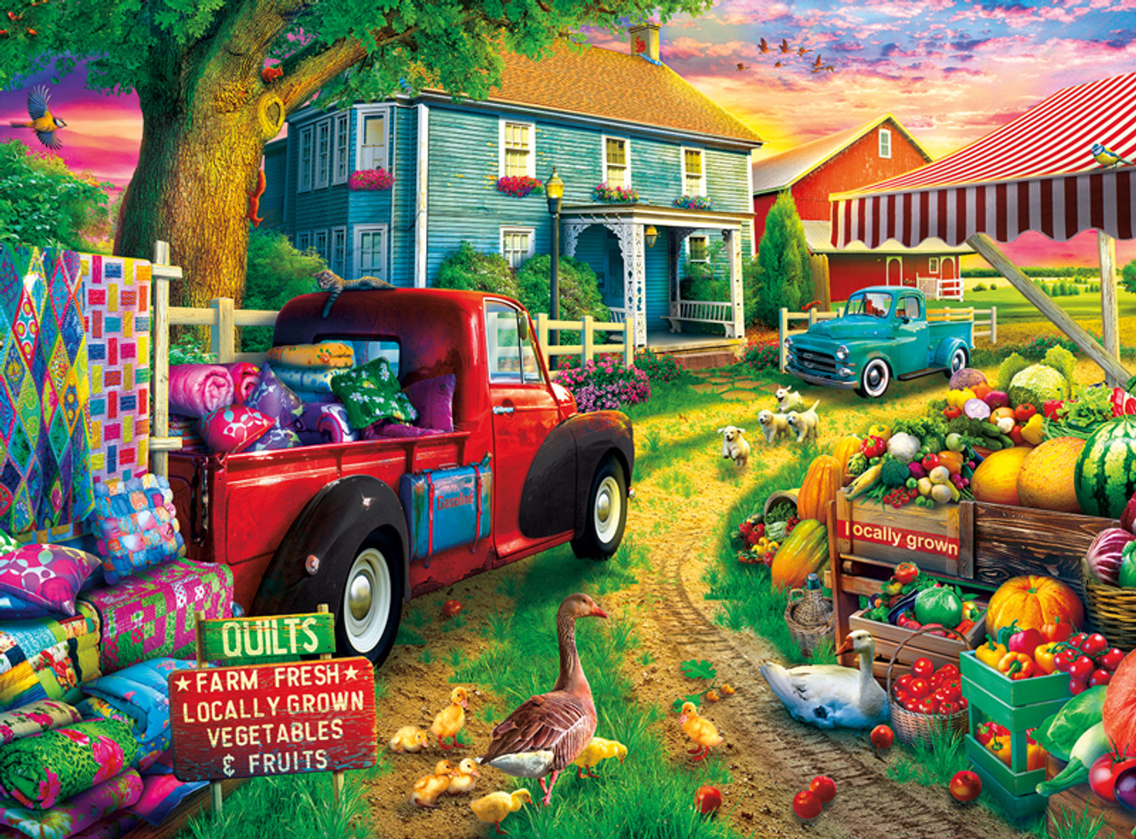 Quilt Farm - 1000pc Jigsaw Puzzle by Buffalo Games
