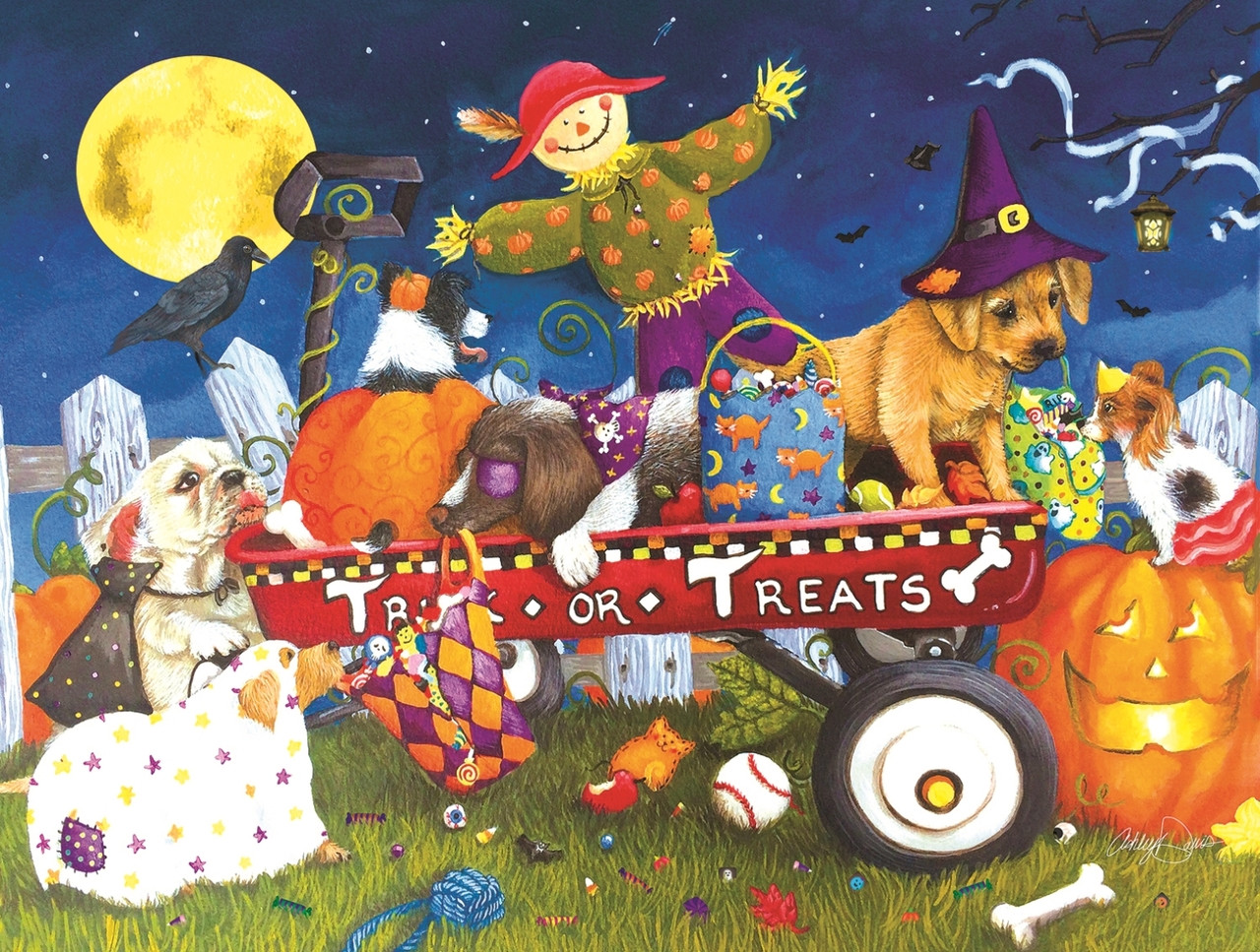 Halloween Puppies 300pc Jigsaw Puzzle By Sunsout Seriouspuzzlescom