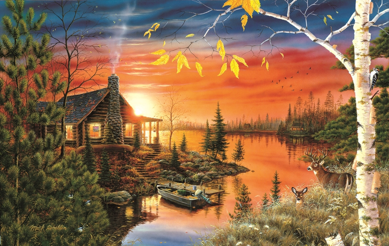 Autumn Evening - 550pc Jigsaw Puzzle By Sunsout