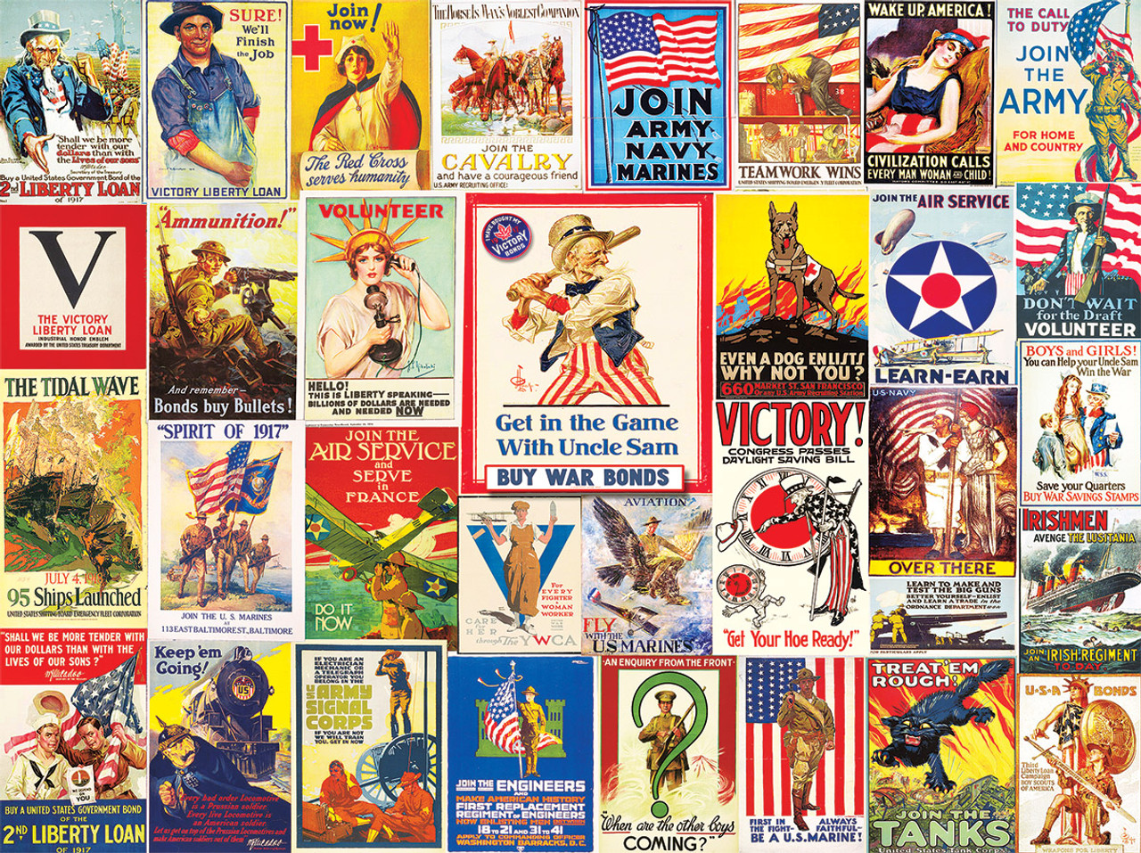 World War I Posters - 1000pc Jigsaw Puzzle by White Mountain