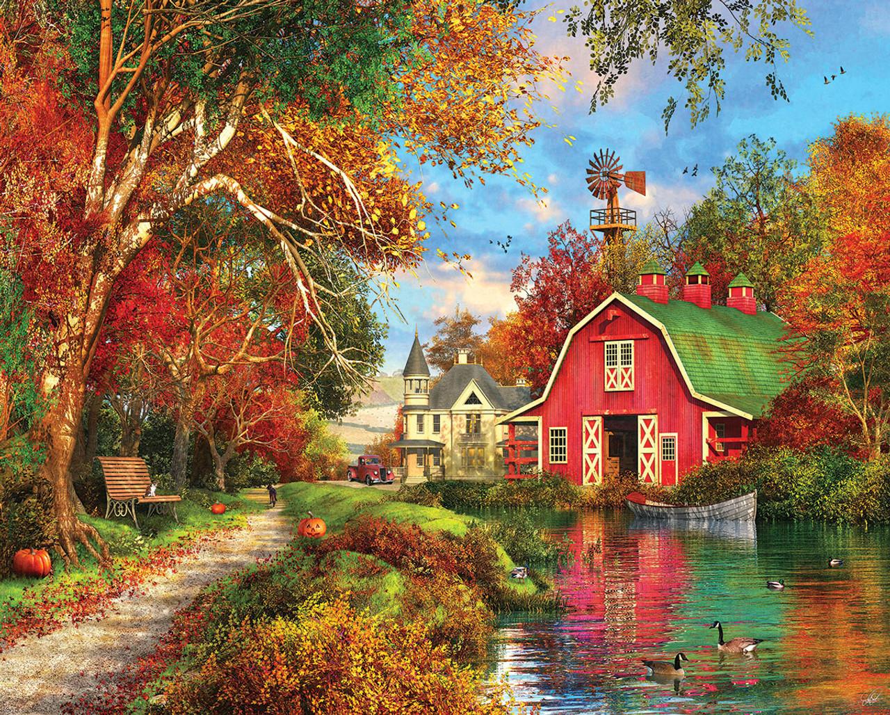 Autumn Barn 1000pc Jigsaw Puzzle By White Mountain