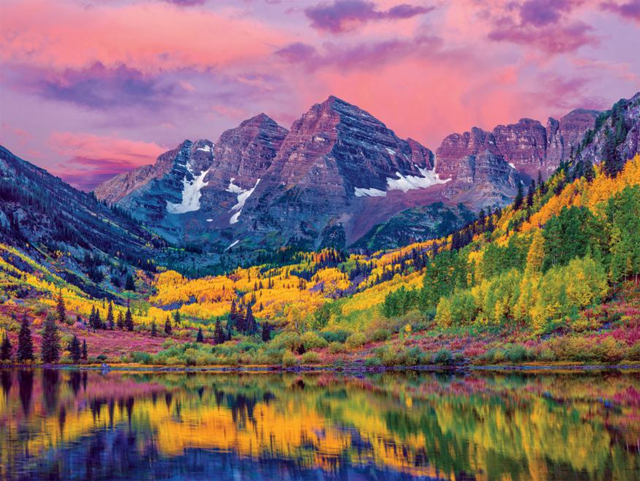 Usa Maroon Bells Aspen Colorado 550pc Jigsaw Puzzle By Ceaco