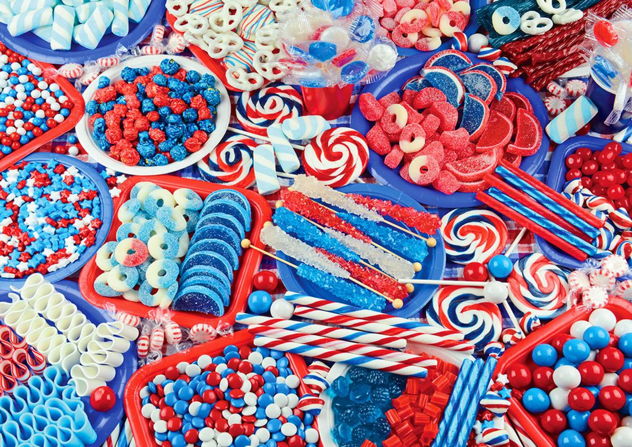 Candy Celebration - 300pc Large Format Jigsaw Puzzle by Lafayette Puzzle  Factory