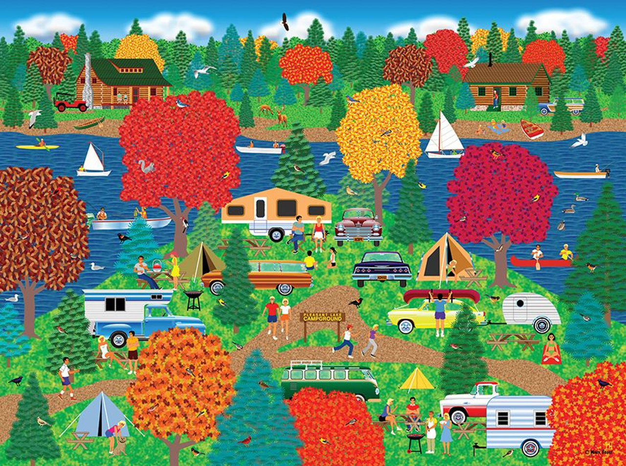Home Country: Fall Camping Pleasure - 1000pc Jigsaw Puzzle by Lafayette  Puzzle Factory