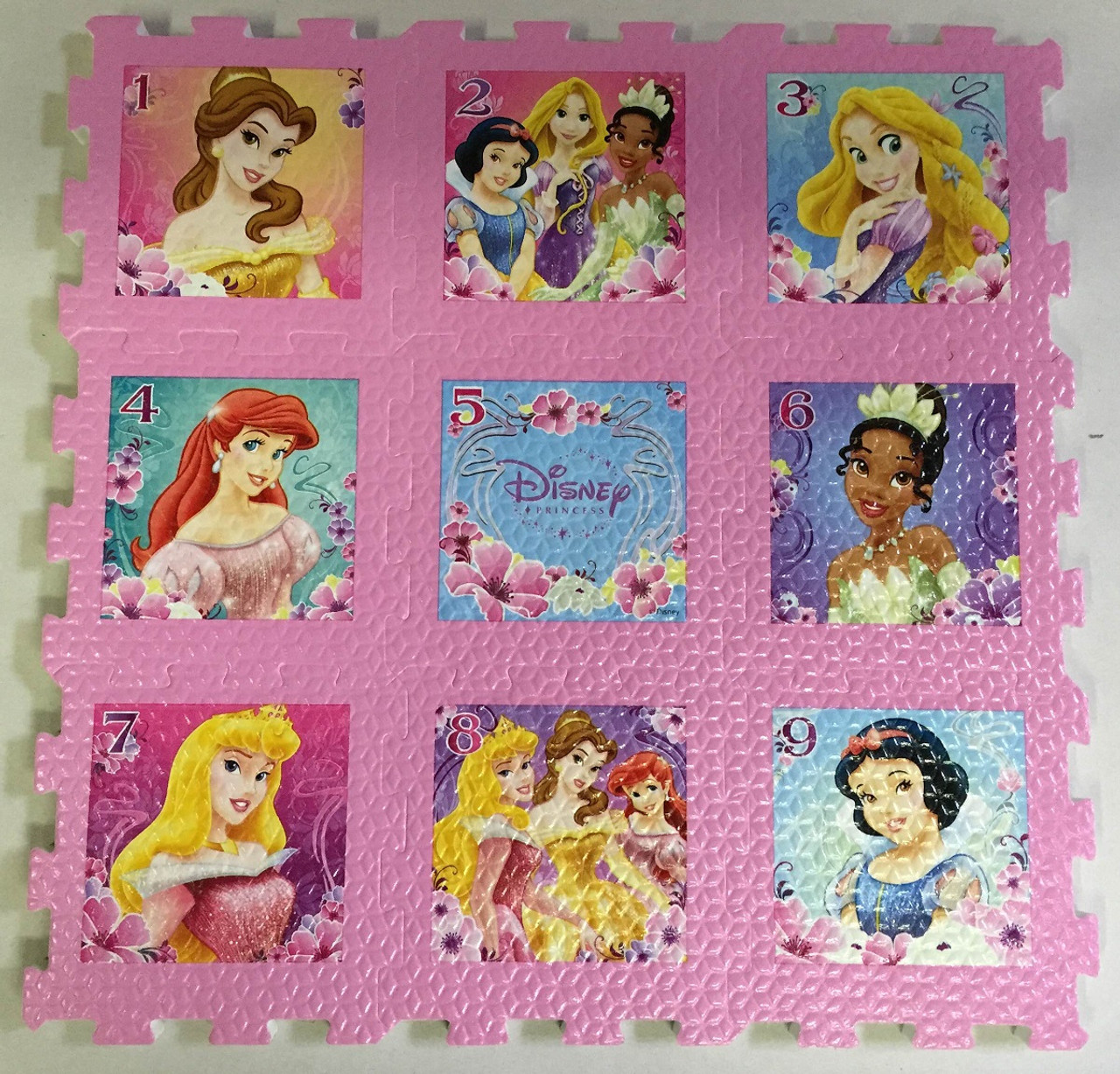 6676b952a214 Disney Princesses - 9pc Foam Floor Puzzle by What Kids Want