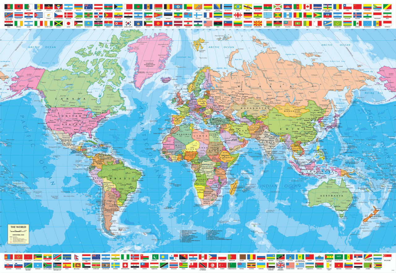 Political World Map - 1500pc Jigsaw Puzzle by Educa - SeriousPuzzles.com
