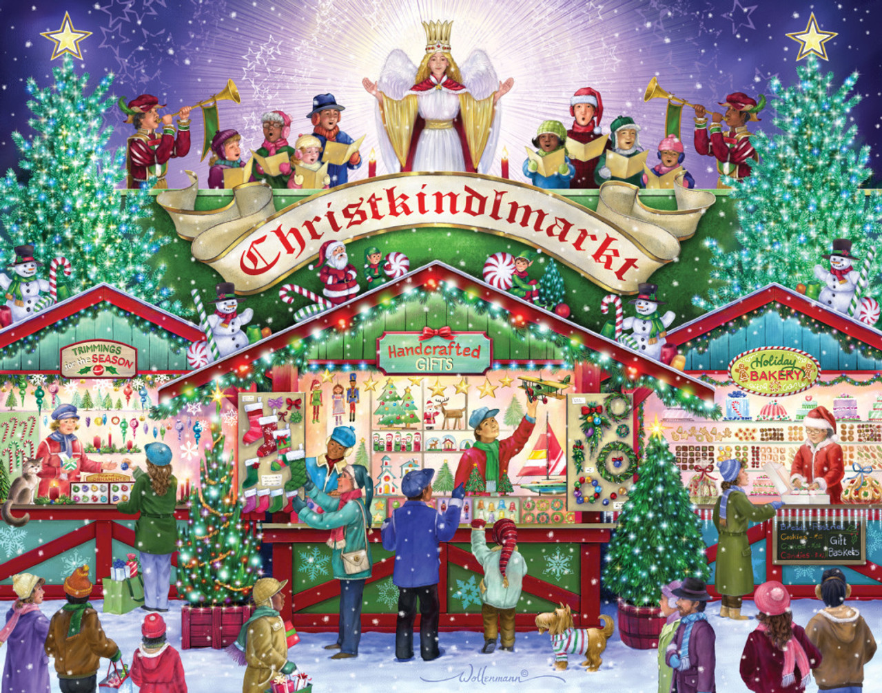 Christmas Jigsaw Puzzles.Christkindlemarkt 1000pc Jigsaw Puzzle By Vermont Christmas Company