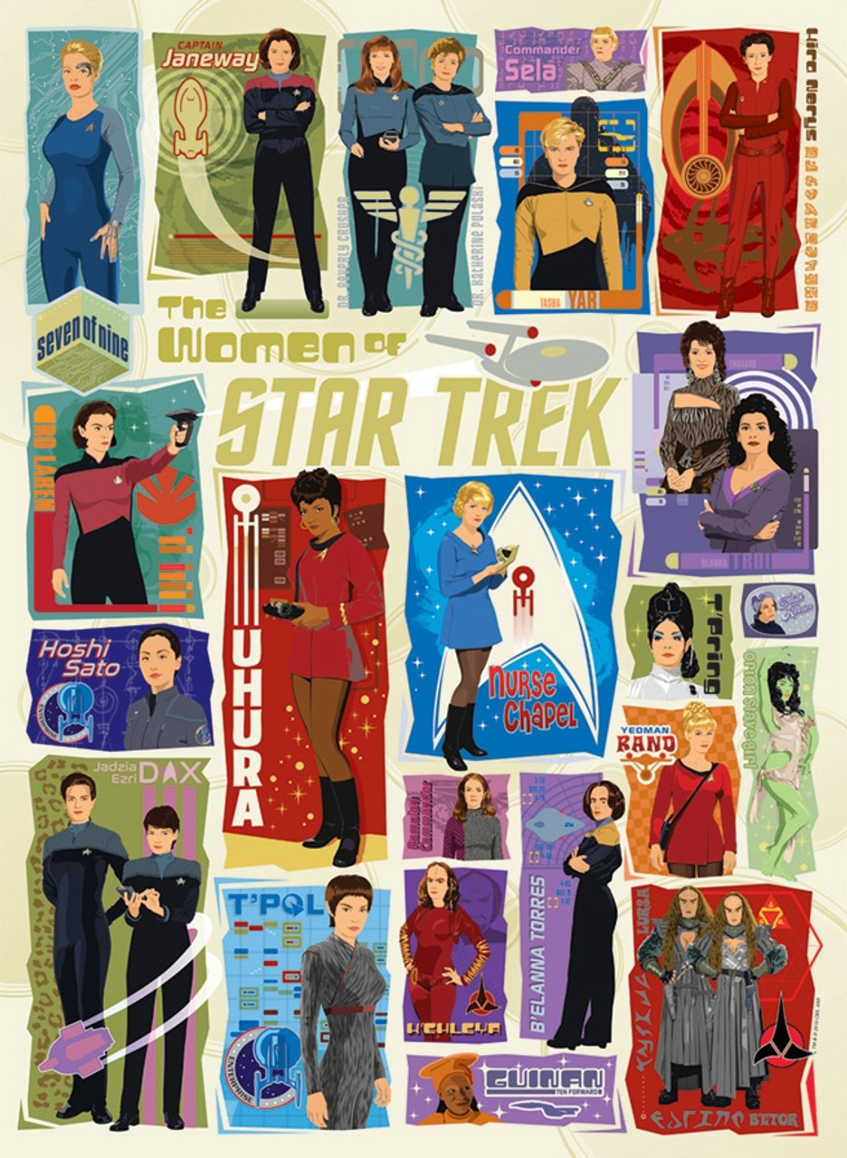 34c91f4e6c6 The Women of Star Trek - 1000pc Jigsaw Puzzle By Cobble Hill NEW