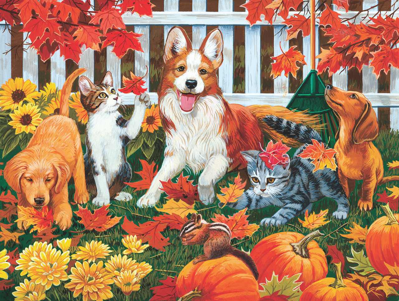 The Leaf Collectors - 300pc Jigsaw Puzzle by Sunsout