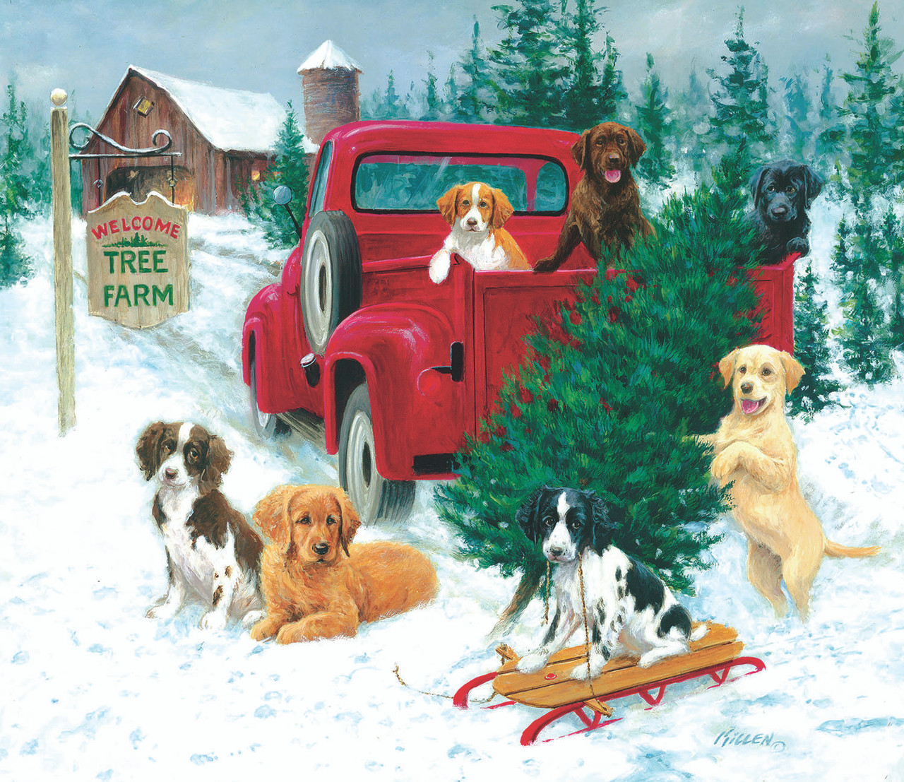 Christmas Tree Farm - 550pc Jigsaw Puzzle By Sunsout