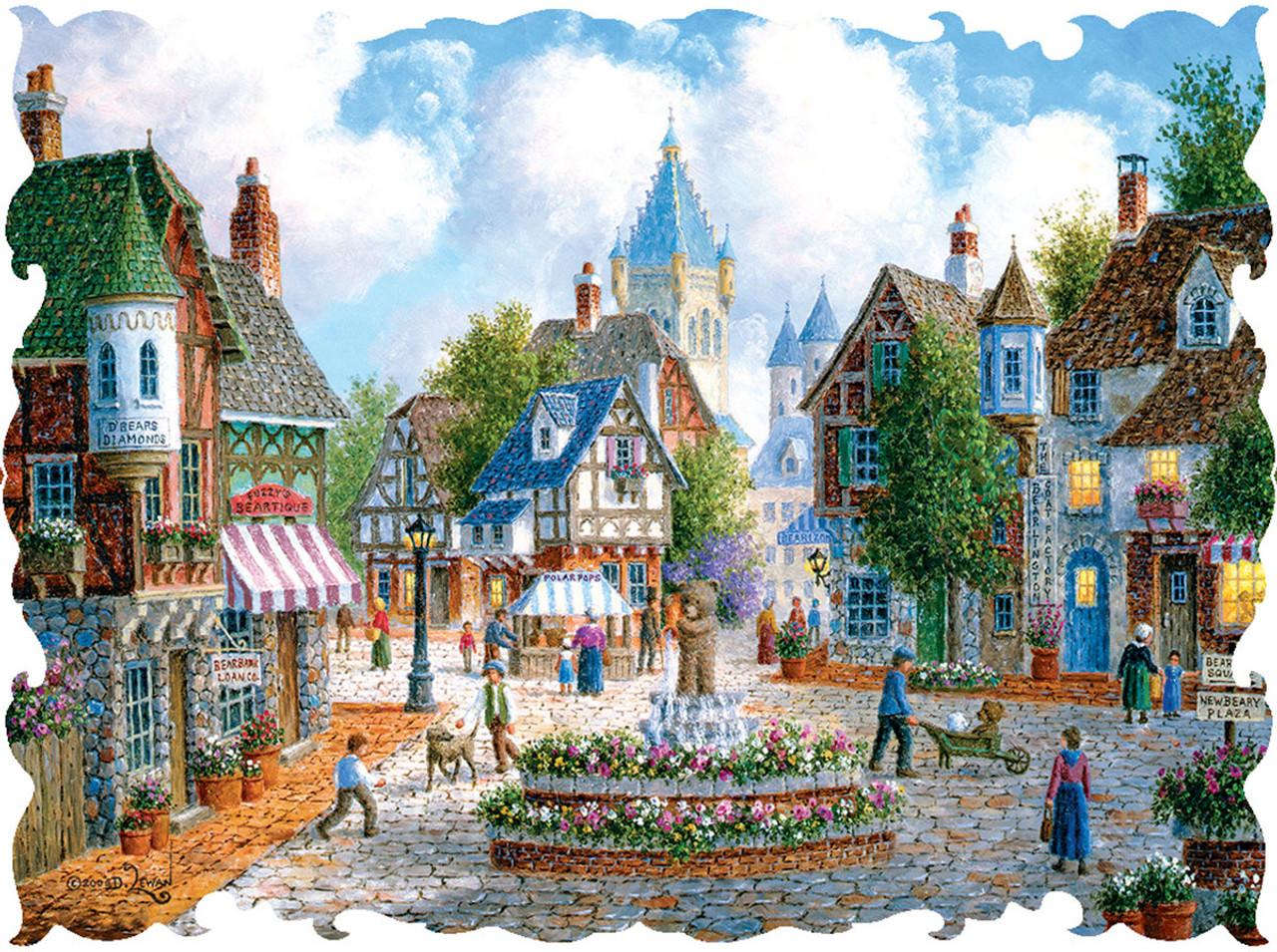 Beautiful Borders: Newbeary Plaza - 750pc Jigsaw Puzzle by Lafayette Puzzle  Factory