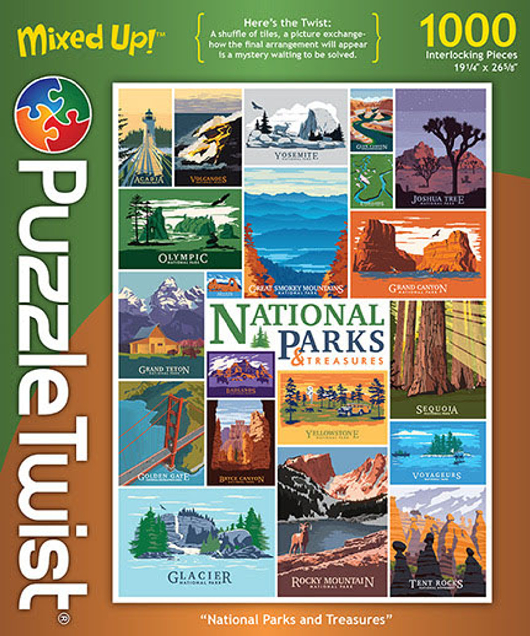 National Parks And Treasures 1000pc Jigsaw Puzzle By Puzzletwist Seriouspuzzles Com