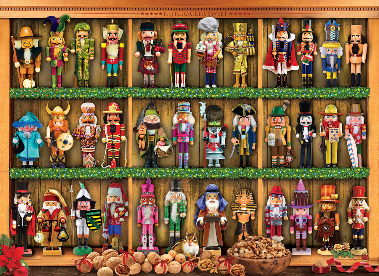 Nutcracker Collection 1000-Pc Christmas Puzzle