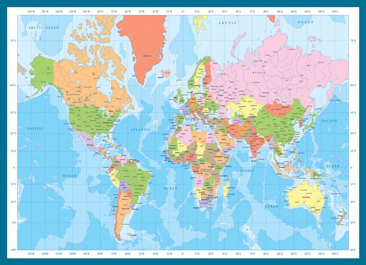 Modern Map of the World - 1000pc Jigsaw Puzzle by Eurographics on european puzzles, printable world geography puzzles, floor puzzles, australian puzzles, map of germany and austria, map puzzles online, melissa and doug knob puzzles, large disney puzzles, map desktop wallpaper, map of countries the uk, north american wildlife puzzles, map puzzles easy, wildlife gallery puzzles, map of continents,