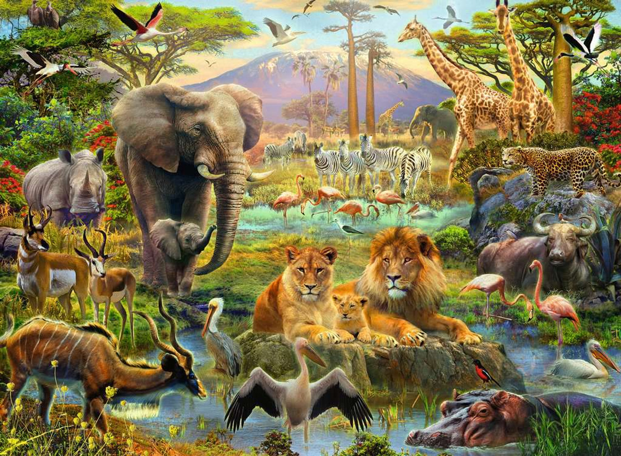 Animals Of The Savannah 200pc Jigsaw Puzzle By Ravensburger Seriouspuzzles Com