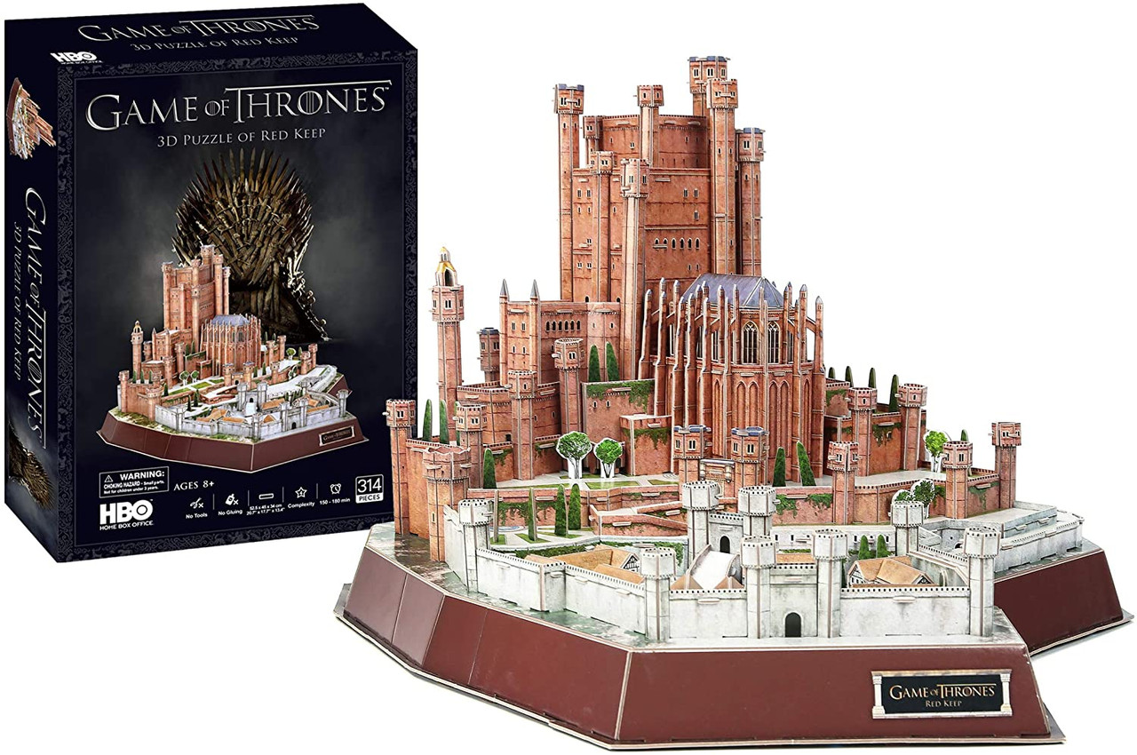 Game Of Thrones Red Keep 314pc 4d Jigsaw Puzzle By 4d Cityscape Seriouspuzzles Com