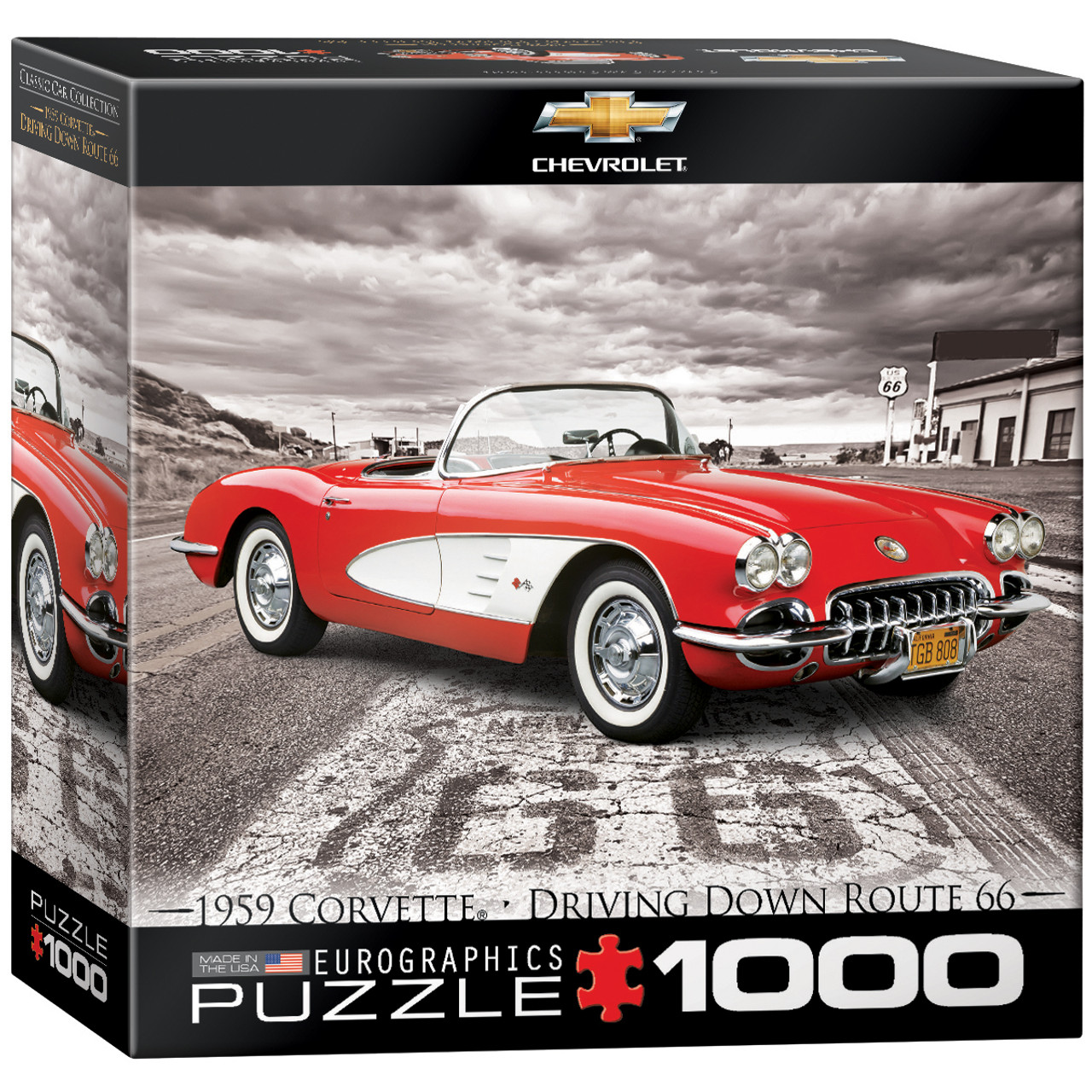 Eurographics 1959 Corvette (Small Box) Jigsaw Puzzle ... 057dc574fa72f