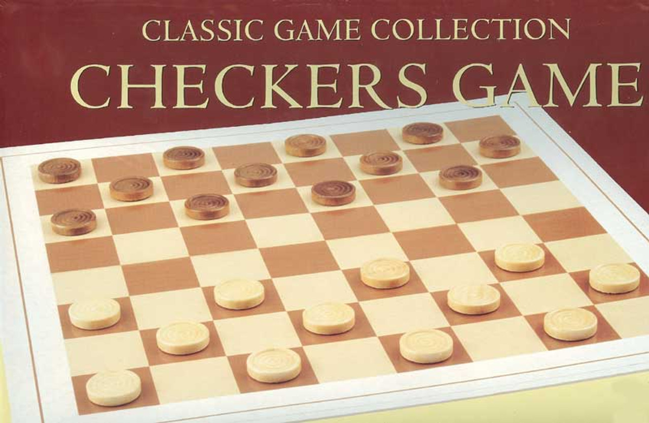 Wood Checkers Set - Board Game (discon-12090)