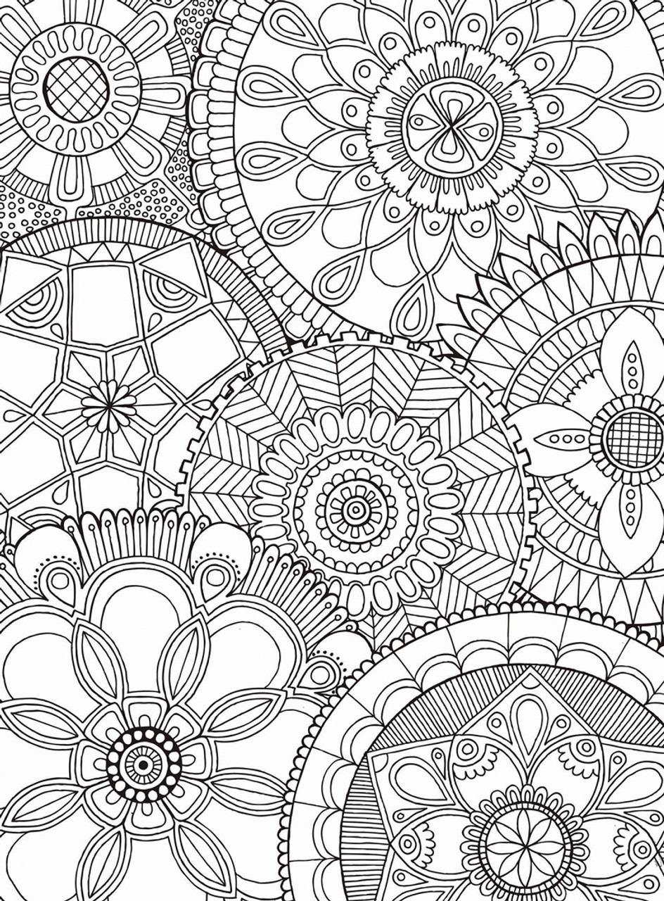 Puzzle Escapes: Mandala Collage - 500pc Coloring Jigsaw Puzzle by  Masterpieces (discon-23115)