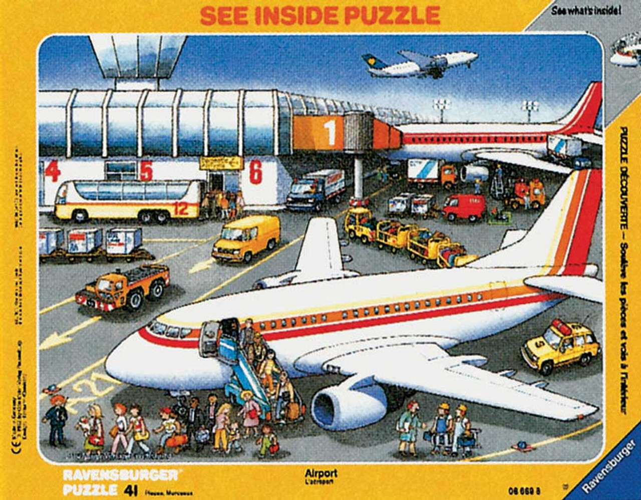 At the Airport - 41pc Frame Puzzle by Ravensburger