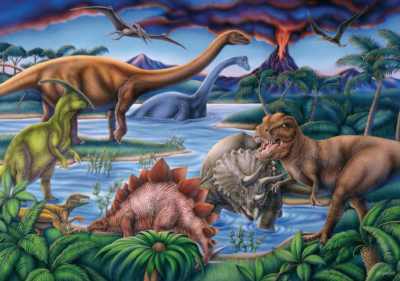 Dinosaur Playground 35pc Jigsaw Puzzle For Kids By Ravensburger